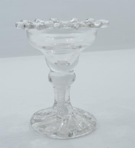 18th Century Opaque Twist Stem Sweetmeat Dish (1 of 1)