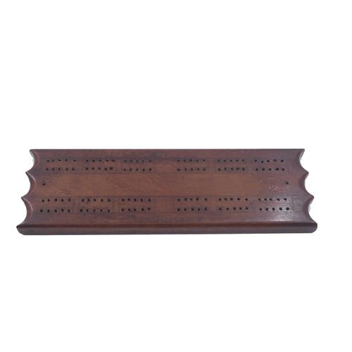 Georgian Mahogany Cribbage Board & Pegs (1 of 1)
