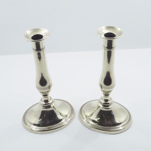 Elegant Pair of Georgian Brass Candlesticks (1 of 1)