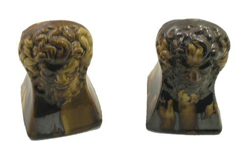 Rare Pair of Scottish Pottery Sash Window Stops c.1860 (1 of 1)