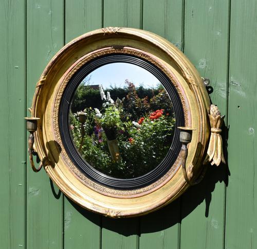 Fine Regency Convex Mirror (1 of 9)