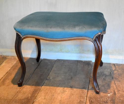Fine Victorian Rosewood Cabriole Leg Stool (1 of 7)