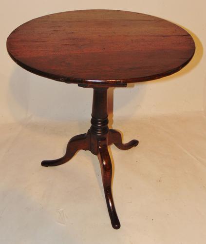 Georgian Oak Birdcage Tripod Table (1 of 7)