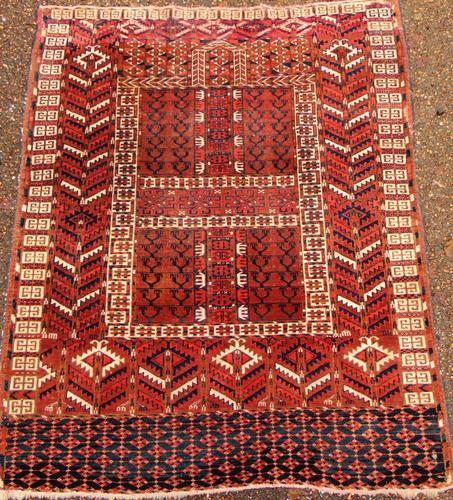 Antique Tekke Turkoman Ensi Rug c.1900 (1 of 7)