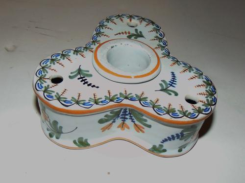 French Faience Inkstand c.1820 (1 of 6)