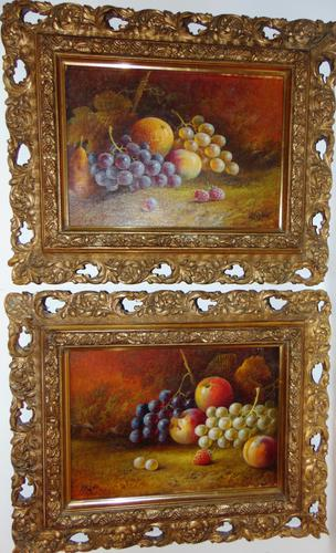 Pair of Still Life Oil on Canvas by H.L.Lewis (1 of 11)