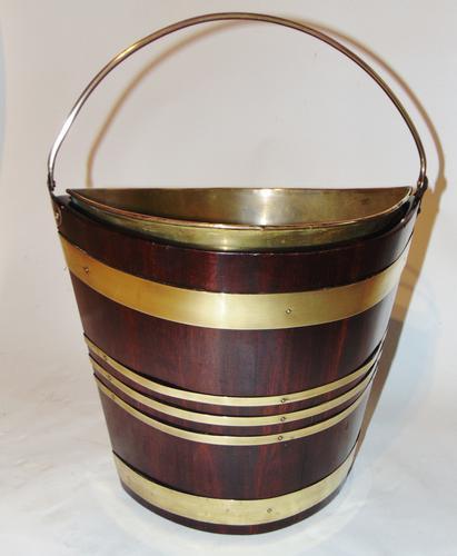 Georgian Mahogany Brass Bound Bucket (1 of 7)