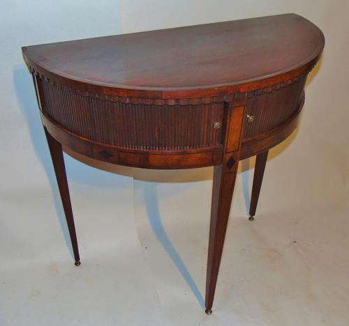Dutch Mahogany Half Round Side Table (1 of 8)