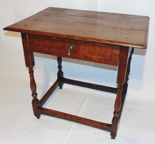 Early 18th Century Oak Side Table (1 of 7)