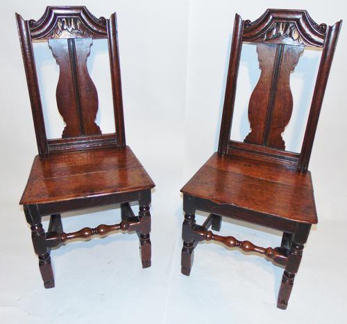 Pair Stuart Oak Side Chairs (1 of 7)