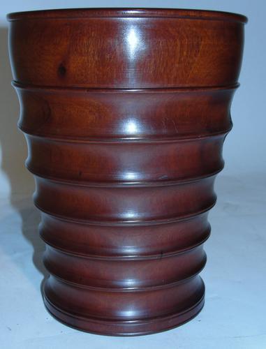Georgian Turned Mahogany Mortar c.1830 (1 of 1)