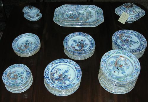 Victorian Masons Ironstone Dinner set c.1850 (1 of 1)