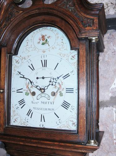 Scottish Georgian Oak Grandfather Clock c.1785 (1 of 1)
