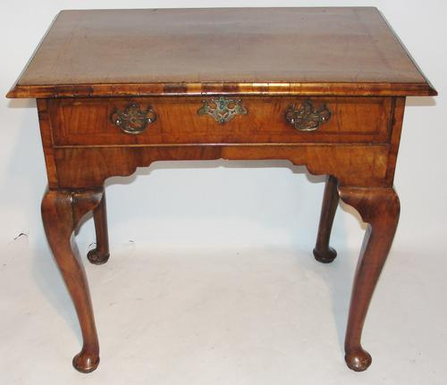 George II Veneered Walnut Side Table c.1740 (1 of 1)