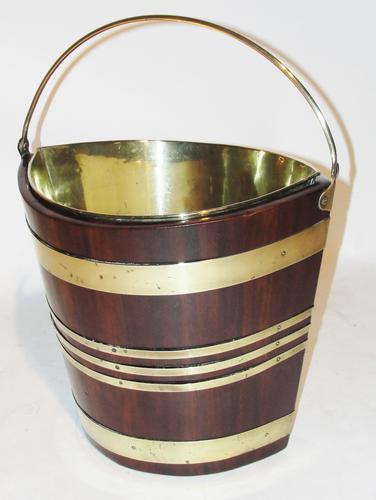 Georgian Mahogany Brass Bound Bucket c.1785 (1 of 1)