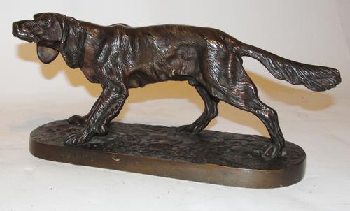 Victorian Bronze Model Setter Dog c.1870 (1 of 1)