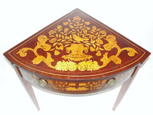 Early 19th Century Dutch Marquetry Corner Side Table c.1810 (1 of 1)