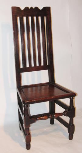 Stuart High Back Oak Side Chair c.1860 (1 of 1)