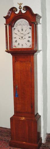Scottish Georgian Oak Longcase Clock c.1785 (1 of 1)