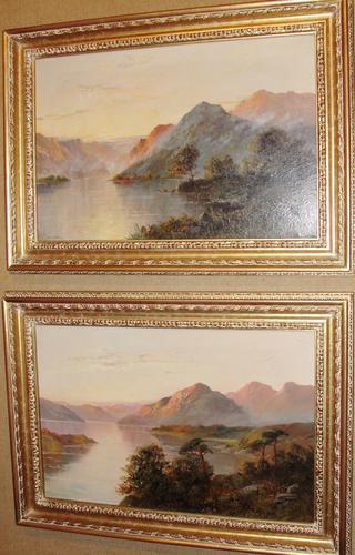 Pair of Oils Loch Lomond & Loch Goil by F.E,Jamieson (1 of 1)