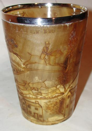 Georgian Horn Beaker Decorated with Hunting Scenes (1 of 1)