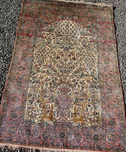 Antique Persian Ispahan All Silk Rug (1 of 11)