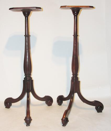 Pair of 18th Century Dutch Mahogany Torchieres (1 of 1)