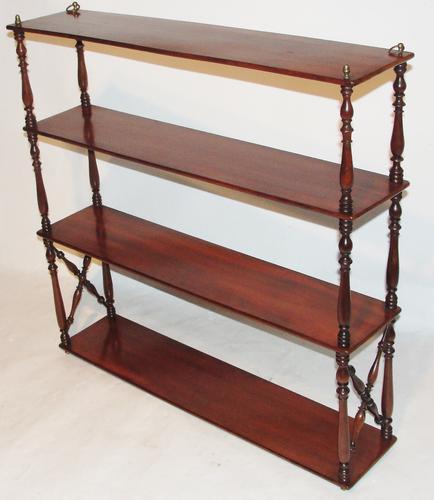 Georgian Mahogany Hanging Shelves (1 of 1)