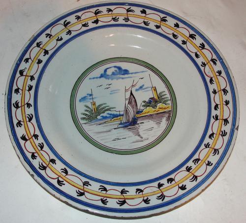 18th Century Dutch Delft Plate (1 of 1)
