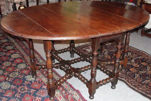 Fine Early Oak Double Gated Gateleg Dining Table (1 of 1)