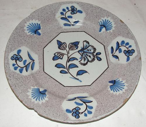 18th Century Wincanton Delft Plate (1 of 1)