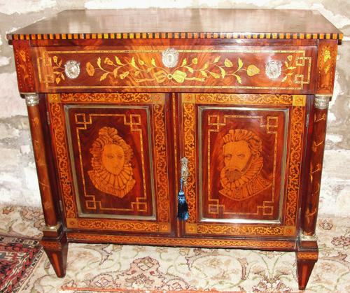 Empire Dutch Marquetry Side Cabinet (1 of 1)