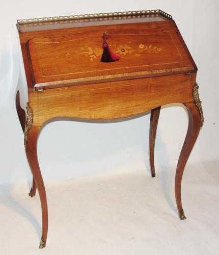 Victorian Inlaid Rosewood Bureau De Dame (1 of 1)