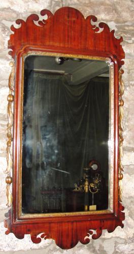Georgian Mahogany Fret Framed Mirror (1 of 1)