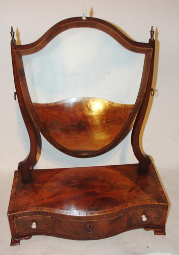 Georgian Mahogany Toilet Mirror (1 of 1)