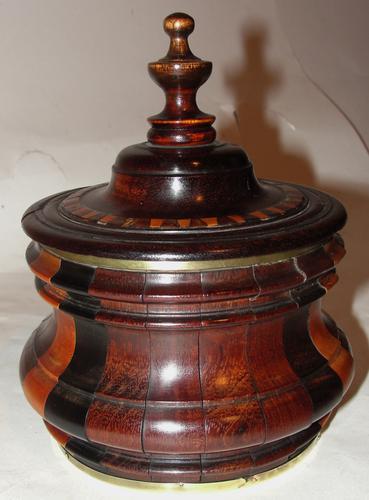 Dutch 18th Century Stripy Tobacco Box (1 of 1)
