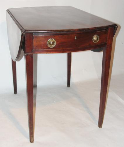 Scottish Georgian Mahogany Oval Pembroke Table (1 of 1)