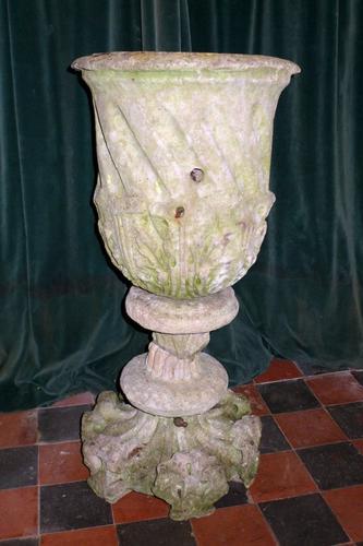 18th Century Carved Stone Garden Urn (1 of 5)