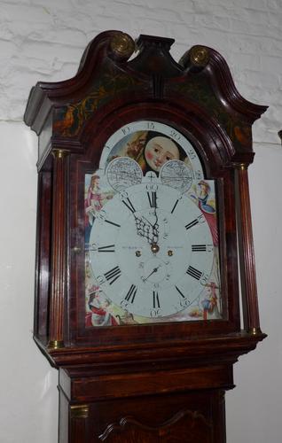George III Oak & Mahogany Moon Dial Longcase Clock (1 of 1)