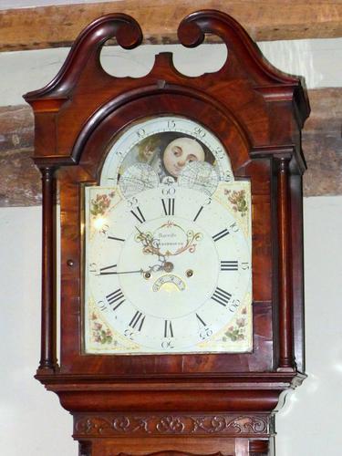 George III Mahogany Moon Dial Longcase Clock (1 of 1)