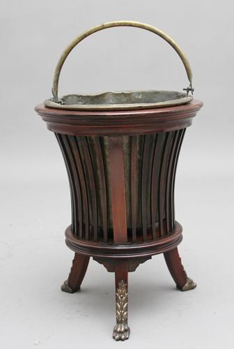 Early 20th Century Mahogany and Brass Jardiniere (1 of 7)