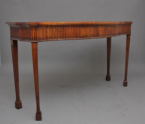 Early 19th Century Satinwood Serpentine Serving Table (1 of 12)