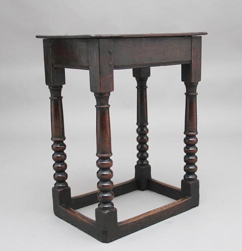 Early 18th Century Oak Joint Stool (1 of 8)