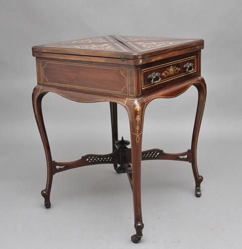 19th Century Inlaid Envelope Table (1 of 16)