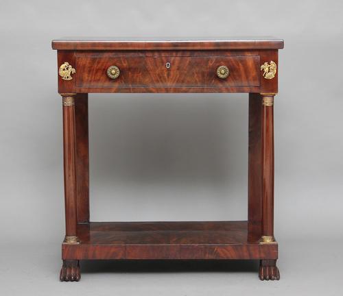 19th Century Mahogany Console Table c.1840 (1 of 1)