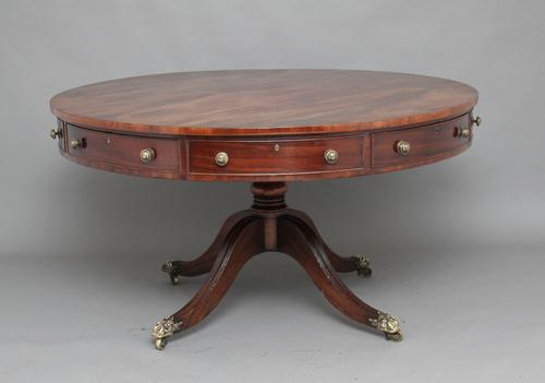 Early 20th Century Mahogany Drum Table c.1920 (1 of 1)