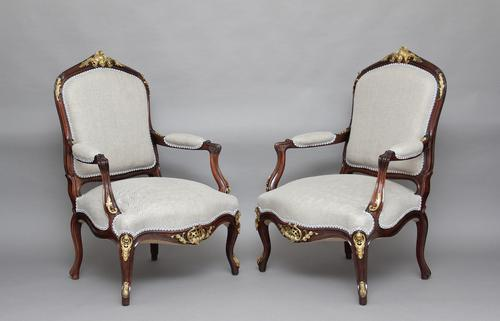 Pair of 19th Century Rosewood Armchairs (1 of 1)