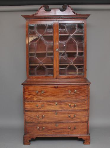 Early 19th Century mahogany secretaire bookcase (1 of 1)
