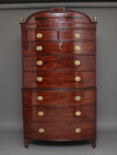 Early 19th Century Bowfront Chest on Chest c.1800 (1 of 1)