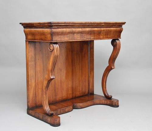 19th Century Continental Walnut Console Table (1 of 10)